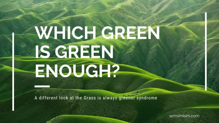 The grass is always greener … on which side?